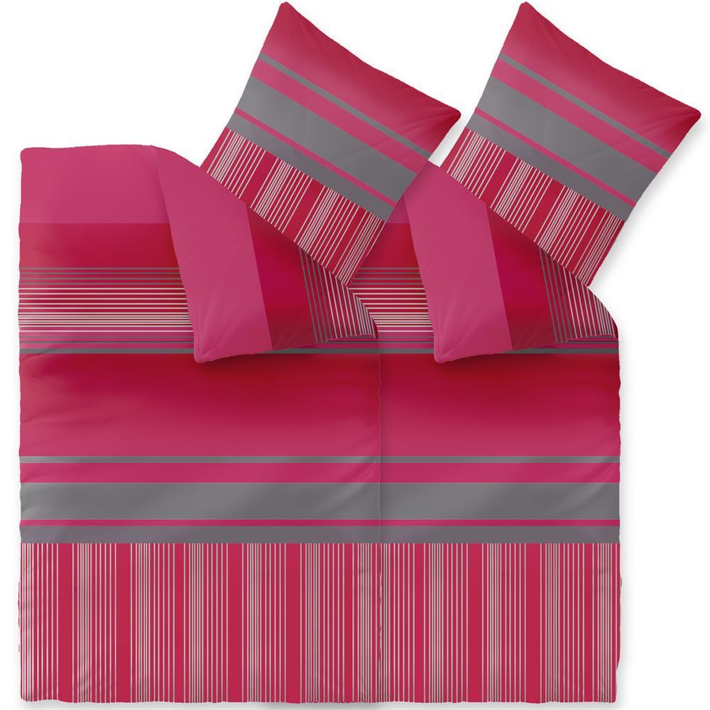 bettw sche garnitur winter microfaser fleece 135x200 rei verschluss style ebay. Black Bedroom Furniture Sets. Home Design Ideas